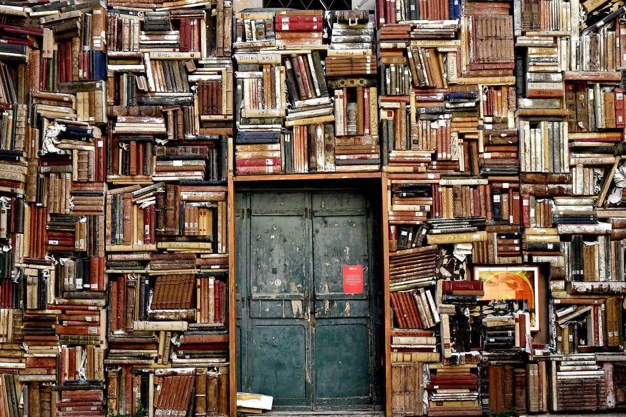 Ușă într-un perete de cărți